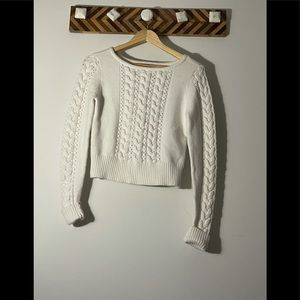 Bebe white knitted sweater